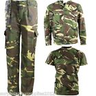 BOYS ARMY OUTFIT CAMO TROUSERS T-SHIRT JACKET HOODIE DPM DRESS UP COSTUME KIDS