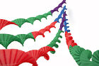 4 SUPERIOR THICKER CREPE PAPER RETRO VINTAGE STYLE CHRISTMAS GARLANDS  JWL