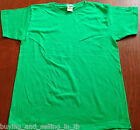 Brand New Plain GREEN 100% Cotton T-Shirt, Top, Sports, School, Casual - 8,10,12