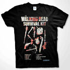 The Walking Dead Survival Kit T-shirt Zombie apocalypse Men Shirts
