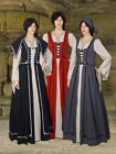 Women's Renaissance Gown Medieval cotton Clothing Dress Celtic Grab Handmade