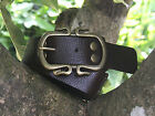 Brown Leather Belt and Buckle Medieval or Pirate Style
