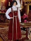 Renaissance Clothing Tudor Inspired Costumes Gown Dress Handmade Red