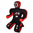 Brazilian Grappling Kneeling Canvas Dummy Boxing Judo MMA Wrestling Black/Red