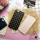 Fashion Hot Glitter Gold Star PU Leather Back Cover Case for iPhone 6/6S plus