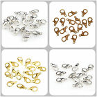 100pcs Silver Plated Lobster Clasps Hooks Findings for Necklace Bracelet 10/12mm
