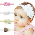 Rose Lace Baby Hair Band Elastic Headband Hair Crown Jewelry  Girl's Headdress