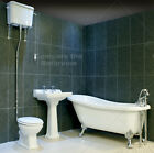 Lyme Traditional Single Ended Slipper Roll Top Bath Suite High/Low Level Toilet