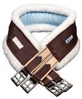 Внешний вид - Lettia CoolMax Fleece Lined English Girth w/Elastic - Chocolate - All Sizes