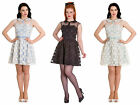 Hell Bunny Shirelle Short Mini Dress Retro Pin Up Vintage Floral Mesh Party