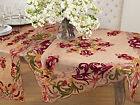 Fennco Styles Elegant Embroidered Floral Woven Tablecloth...
