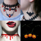 New Halloween Retro Women Black Charm Choker Gothic Punk Collar Necklace Chain