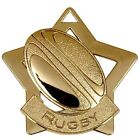 AM717 MINI STAR RUGBY METAL MEDAL & FREE RIBBON
