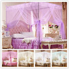 No Frame Lace Canopy Mosquito Net Princess Bedding for Twin Full Queen King Size image