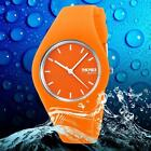 Mens Ladies Jelly Watches Quartz Watch Silicone Band 30M Waterproof Sports Watch