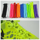 One Pair Kid/Adult Curly Elastic Coil No Tie Shoelace Lace String for Sport Shoe