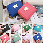 Women Leather Small Mini Wallet ID Card Holder Zip Coin Purse Clutch Handbag