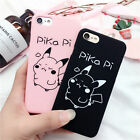Cute Pokemon Angry Pikachu Matte TPU Back Cover Case for iPhone 5/5S/6/6S/7 Plus