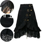 Vintage Womens Steampunk Clothing Party Wear Punk Gothic Black Lace Skirt Dress