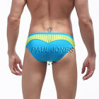 Sexy Mens Splicing Boxer Briefs Swimwear Swim Y-Front Brief Shorts Underpants