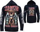 Grim Reaper Wanted Dead Or Alive Shooter Zip Zipped Hoodie Hoody Jacket M - XL