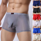 Sexy Mens See Through Boxer Briefs Underwear Shorts Underpants Penis Pouch S M L