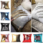 Fashion Mermaid Sequins Pillow Cover Throw Pillow Case Color Change Square
