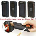 80000mAh Dual USB External Solar Power Bank Battery Charger for Cell Phone USA