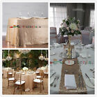 Champagne Sequin Table Cloth, Shimmer Sparkly Overlays Tablecloths for Wedding