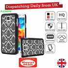 New Palace Flower Pattern ShockProof Clear Hard Case Cover For Samsung Galaxy S5