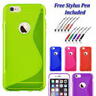 S-Line Back Case Soft Gel  Silicone Slim Grip Cover For  Apple iPhone 7 UK