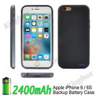 2400mAh Ultra Thin External Backup Battery Case Cover Power Bank for iPhone 6 6S