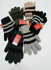 MENS THERMAL STRIPED GLOVE BRUSHED INSIDE FOR WARMTH DRESSY OR WORK 7 COLS.