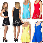 Sexy Woman Cosplay Costume Vest Mini Skater Dress Skirt Stretchy Outfit Zipper