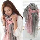 Women Soft Long Neck Large Scarf Wrap Shawl Pashmina Stole Scarve Chiffon Cotton