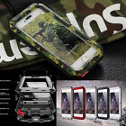Shockproof Aluminum Gorilla Glass Metal Case Cover For iPhone 5 6 6S 7 7 Plus