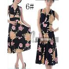 AU SELLER 50'S Vintage Sexy Floral  V-Neck Sleeveless Dress dr141-6