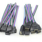 4 PIN Female male RGB Connectors Wire Cable For 3528 5050 SMD LED Strip HU