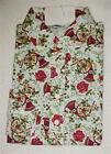 Holiday Print Long Sleeve Polo Style T-Shirt S-M-L-XL NEW WITH TAGS #338