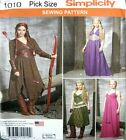 Simplicity Sewing Pattern 1010 Ladies Hunger Games Dress Cosplay Costume