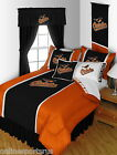 Baltimore Orioles Comforter Bedskirt Sham Valance Twin Full Queen King Size