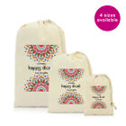 PERSONALISED GIFT BAG HAPPY DIWALI HOLIDAY DRAWSTRING PRESENTS INDIAN FESTIVAL