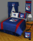 New York Rangers Comforter Sham & Sheet Set Twin Full Queen King Size