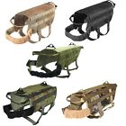 TACTICAL DOG VEST HARNESS K9 MOLLE HUNTING TRAINING MILITARY PATCH PANEL XS - XL
