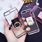 2in1 Luxury Finger Ring Holder Clear Slim Phone Case Cover For iPhone 6s 7 Plus