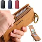 FLOVEME Wallet 18 Card Slots Stand Genuine Leather Cover Case for iPhone Samsung