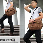 Genuine Leather Cross Body Laptop Men Messenger Bag Military Vintage Canvas Bags