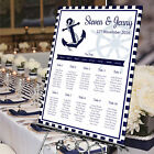 Personalised Wedding Table Seating Plan-NAUTICAL ANCHOR-4 SIZE OPTIONS