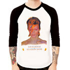 David Bowie-Aladdin Sane retro ziggy band Baseball t-shirt 3/4 sleeve Raglan Tee