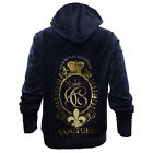 JUICY COUTURE Blue & Gold Zipper Hoodie,Her Royal Highness Womens Plus Size NEW